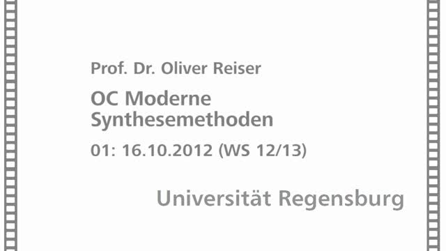 Moderne Synthesemethoden 01