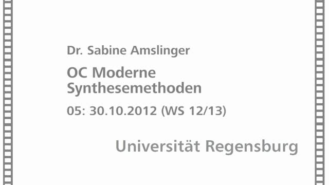 Moderne Synthesemethoden 05