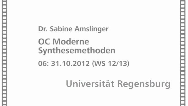 Moderne Synthesemethoden 06