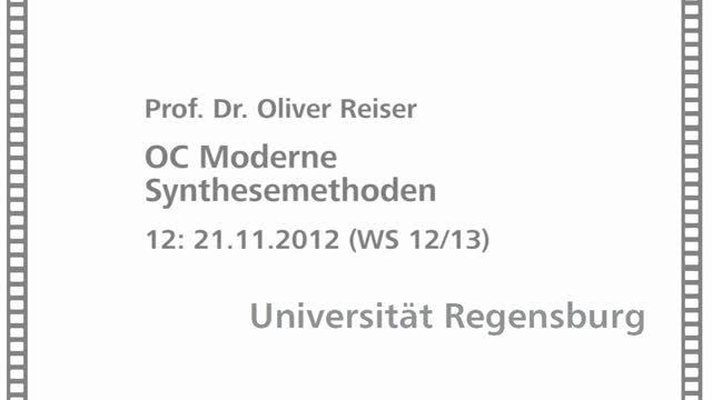Moderne Synthesemethoden 12