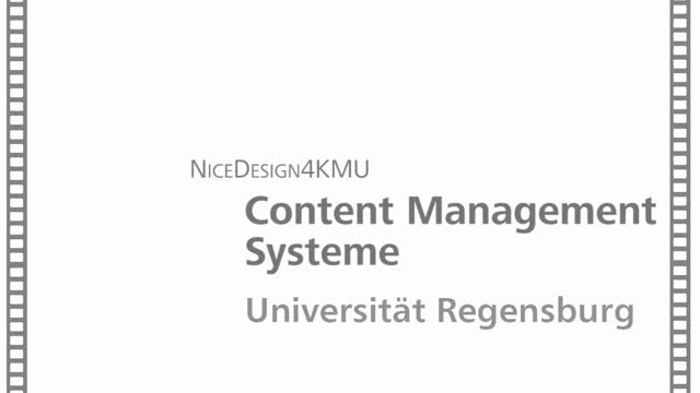 Nice Design 4 KMU - Content Management Systeme