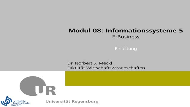 08 00 IS5 - E-Business, Überblick