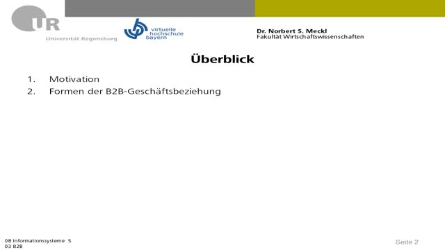 08 03 IS5 - E-Business, Überblick