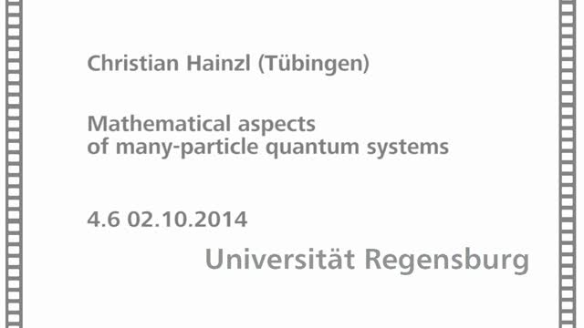 Quantum Mathematical Physics - 04 - 06