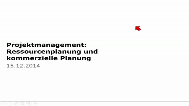 13 Projektmanagement Vorlesung 2014-15