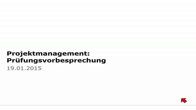 22 Projektmanagement Vorlesung 2014-15