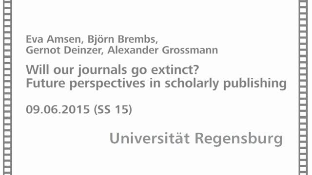 Minisymposium: Will our journals go extinct?