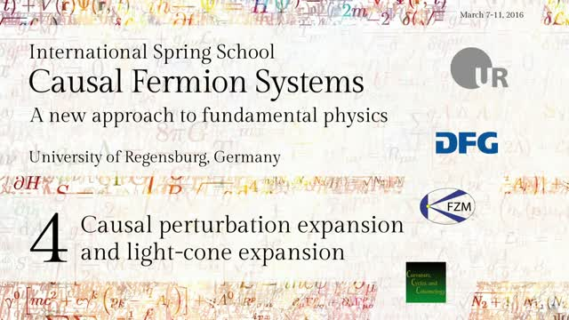 Introduction to Causal Fermion Systems - 04