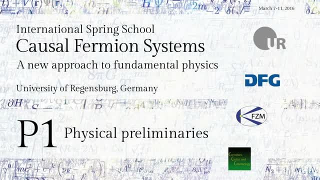 Introduction to Causal Fermion Systems - 00a