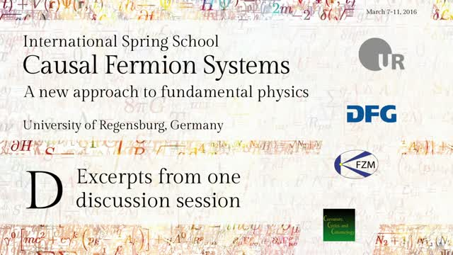 Introduction to Causal Fermion Systems - 00c