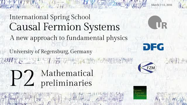 Introduction to Causal Fermion Systems - 00b