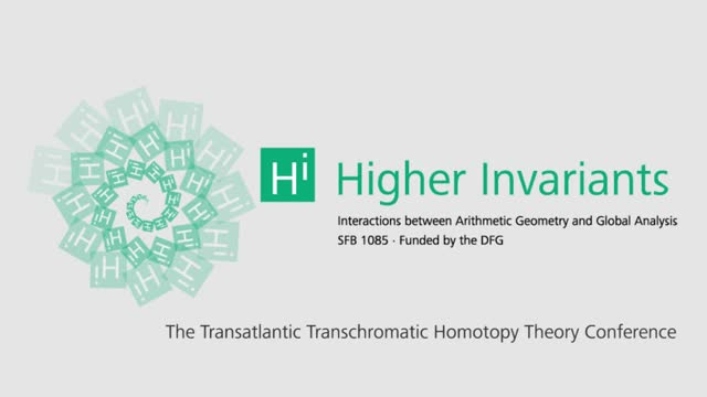 Higher invariants - Vortrag 12 - Transchromatic Homotopy Theory Conference