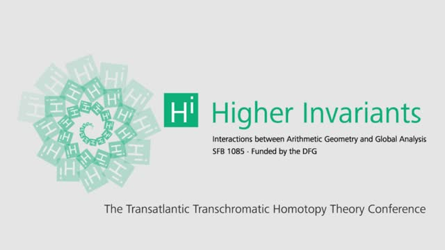 Higher invariants - Vortrag 16 - Transchromatic Homotopy Theory Conference