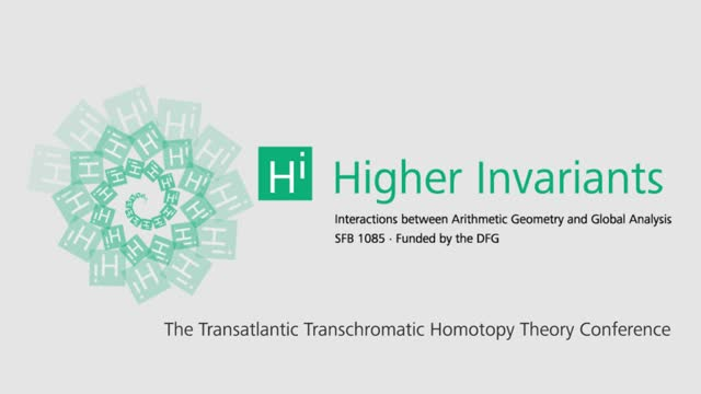 Higher invariants - Vortrag 17 - Transchromatic Homotopy Theory Conference