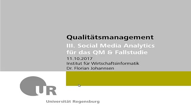 Qualitätsmanagement - Social Media Analytics 01