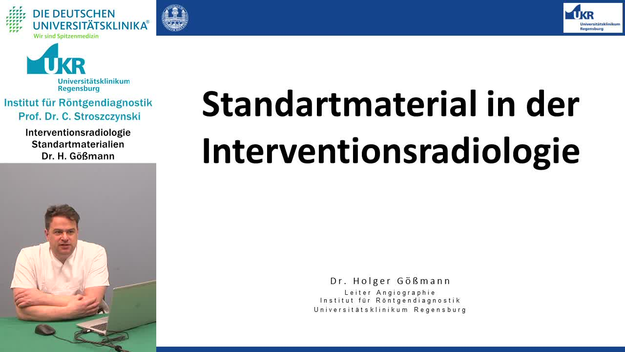 Standardmaterial in der Interventionsradiologie