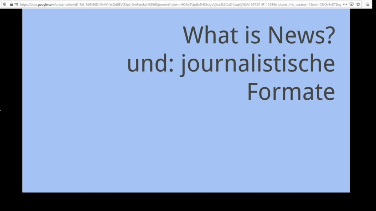 Screencast: Digitaler Journalismus - What is News?