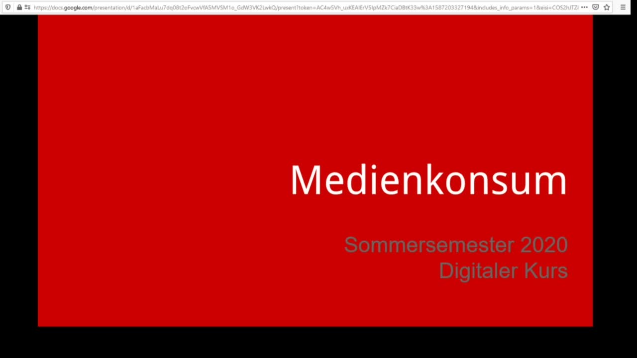 Screencast Digitaler Journalismus: Medienkonsum