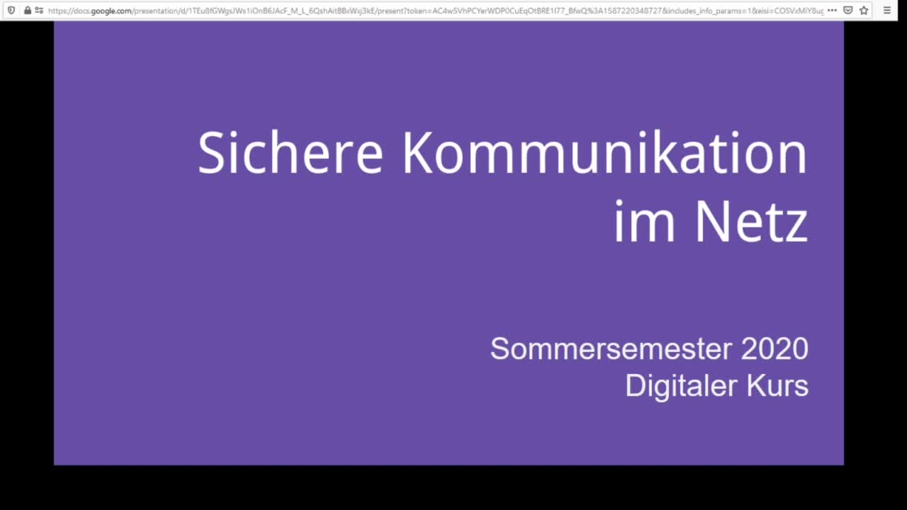 Screencast Digitaler Journalismus: Sichere Kommunikation
