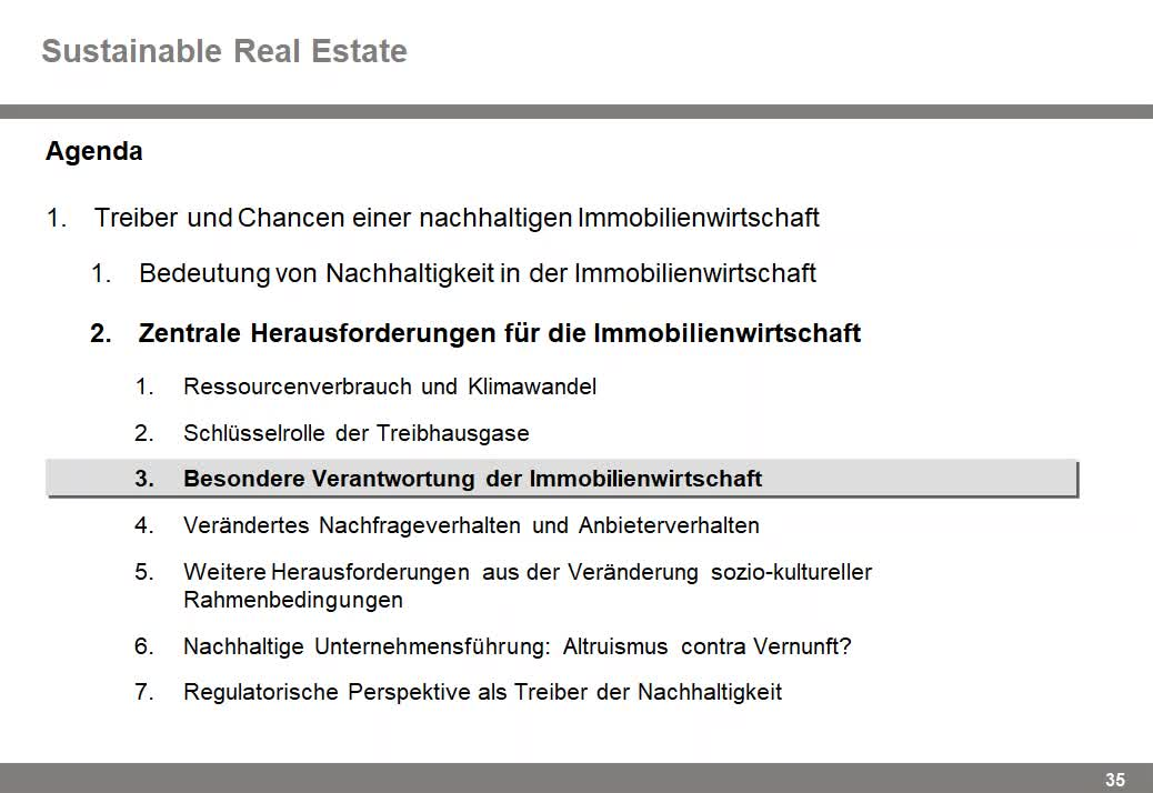 Sustainable Real Estate VL#01 - Teil 2