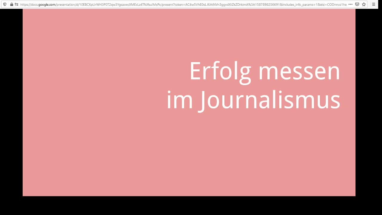 Screencast Digitaler Journalismus: Erfolg messen