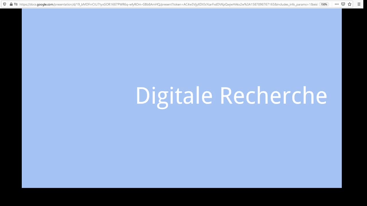 Screencast Digitaler Journalismus: Digitale Recherche