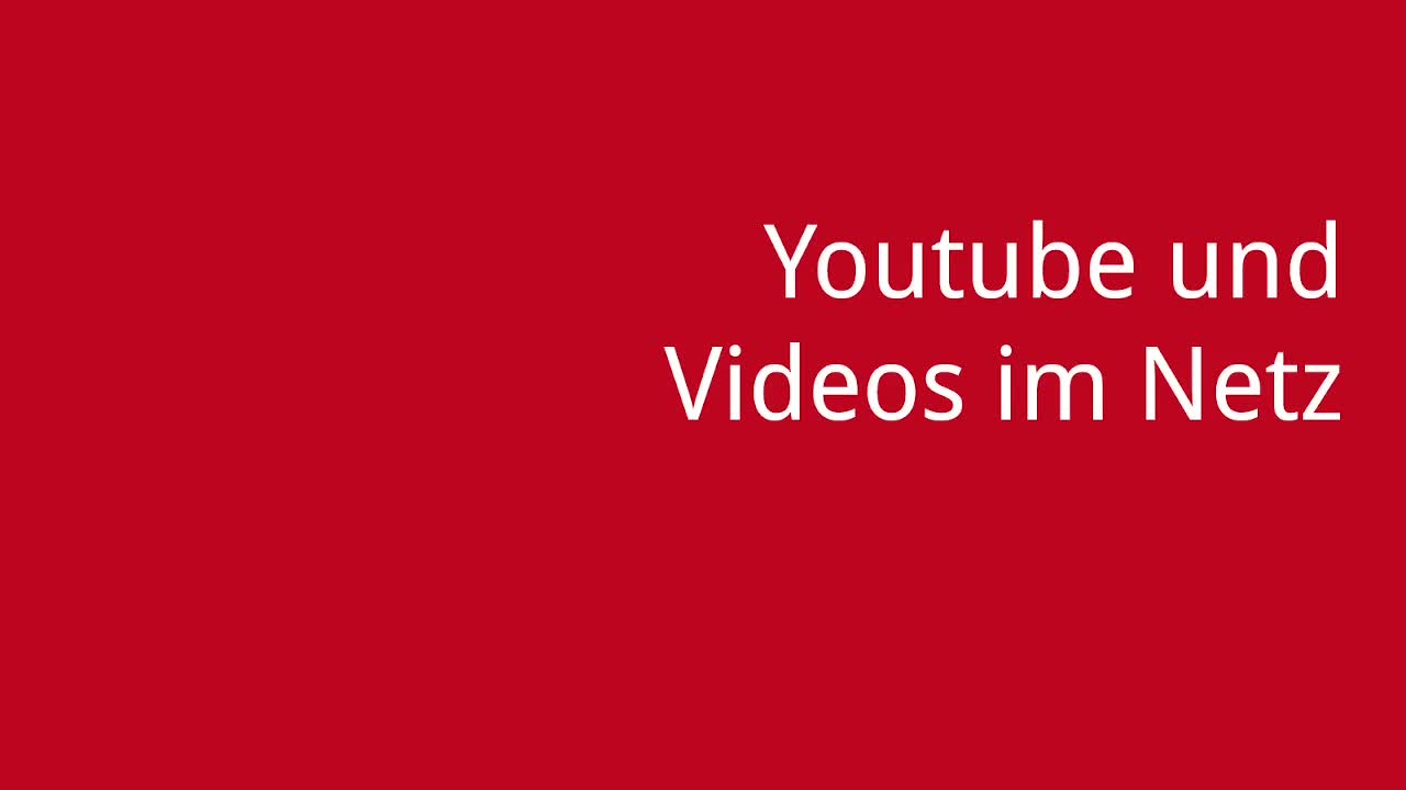 Screencast Digitaler Journalismus: Youtube und Videos im Netz