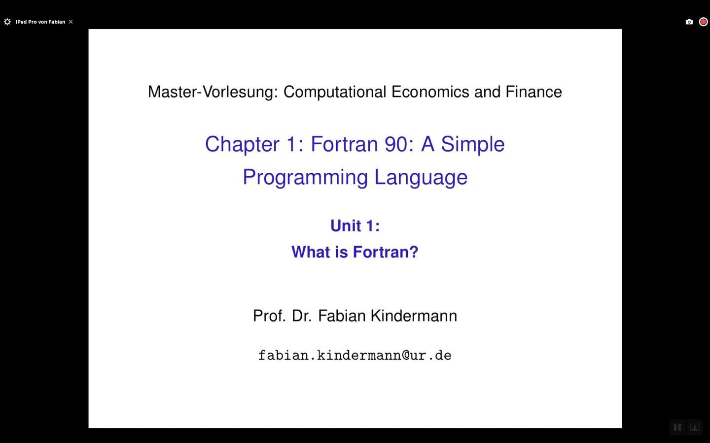 Chapter 1 - Unit 1 - What is Fortran?