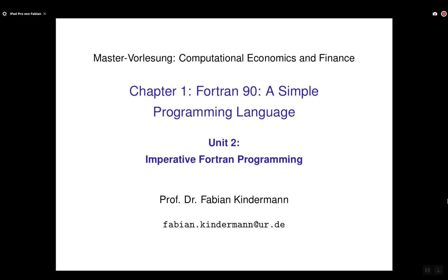 Chapter 1 - Unit 2 - Imperative Fortran Programming