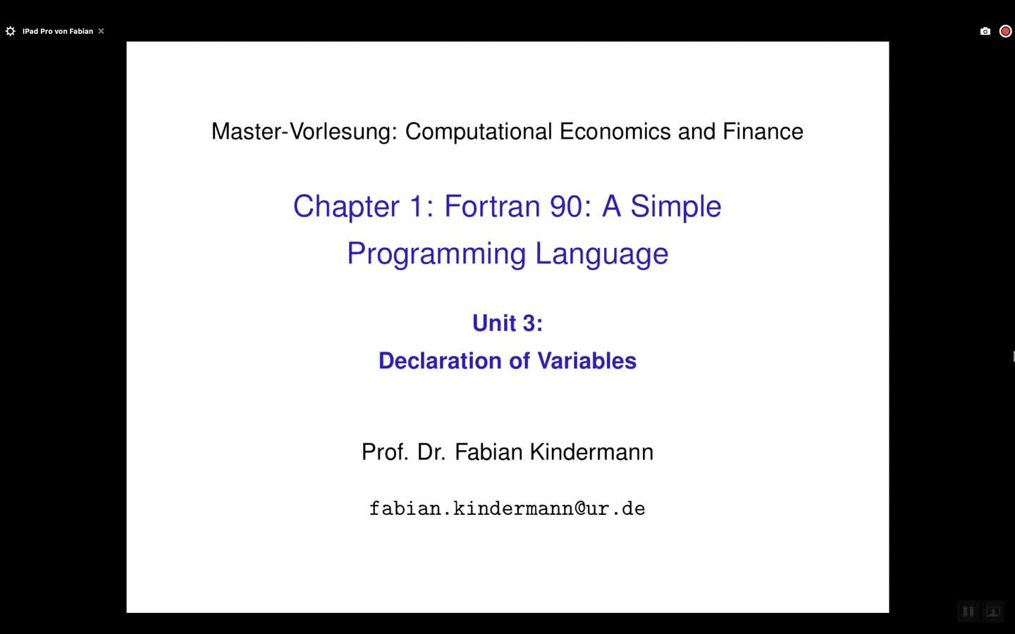 Chapter 1 - Unit 3 - Declaration of Variables
