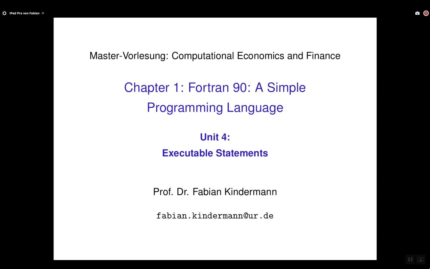 Chapter 1 - Unit 4 - Executable Statements