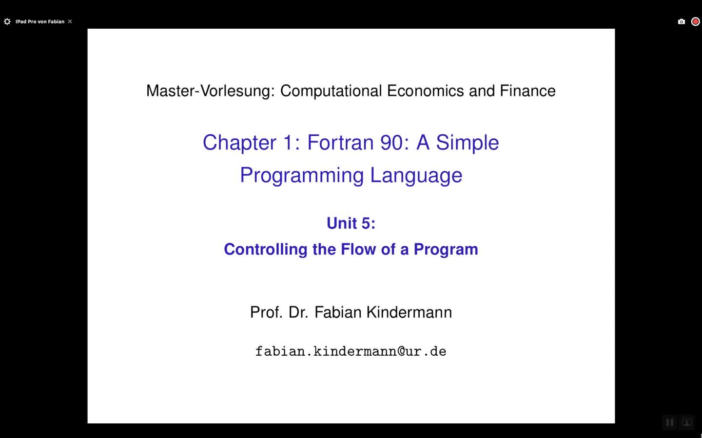 Chapter 1 - Unit 5 - Controlling the Flow of a Program