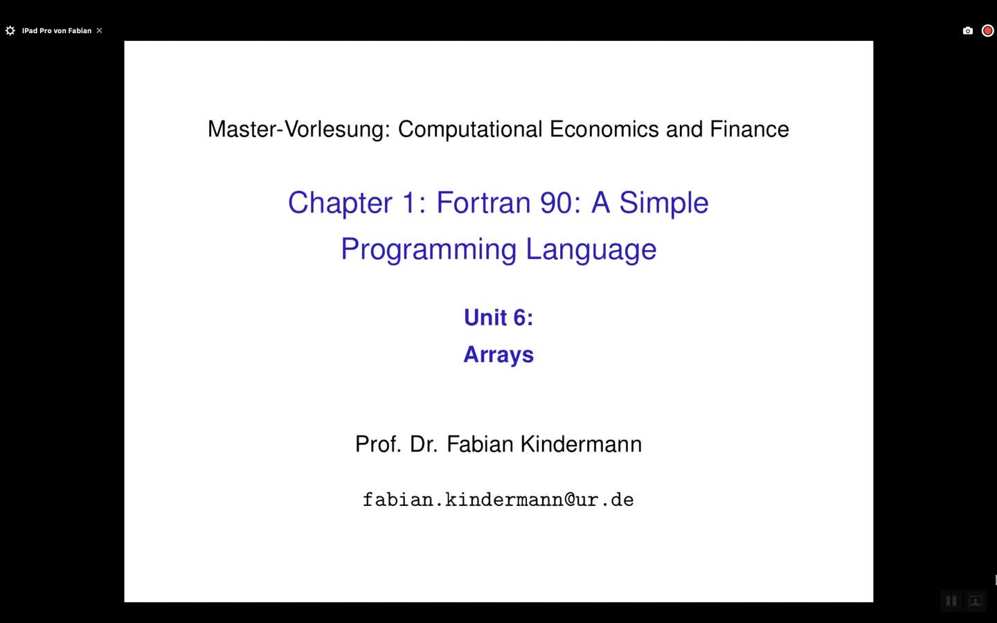 Chapter 1 - Unit 6 - Arrays