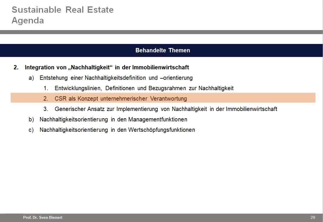 Sustainable Real Estate VL#02 - Teil 2