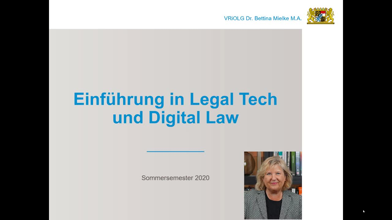 Legal Tech SS 2020 02 State of the Art - Beispiele