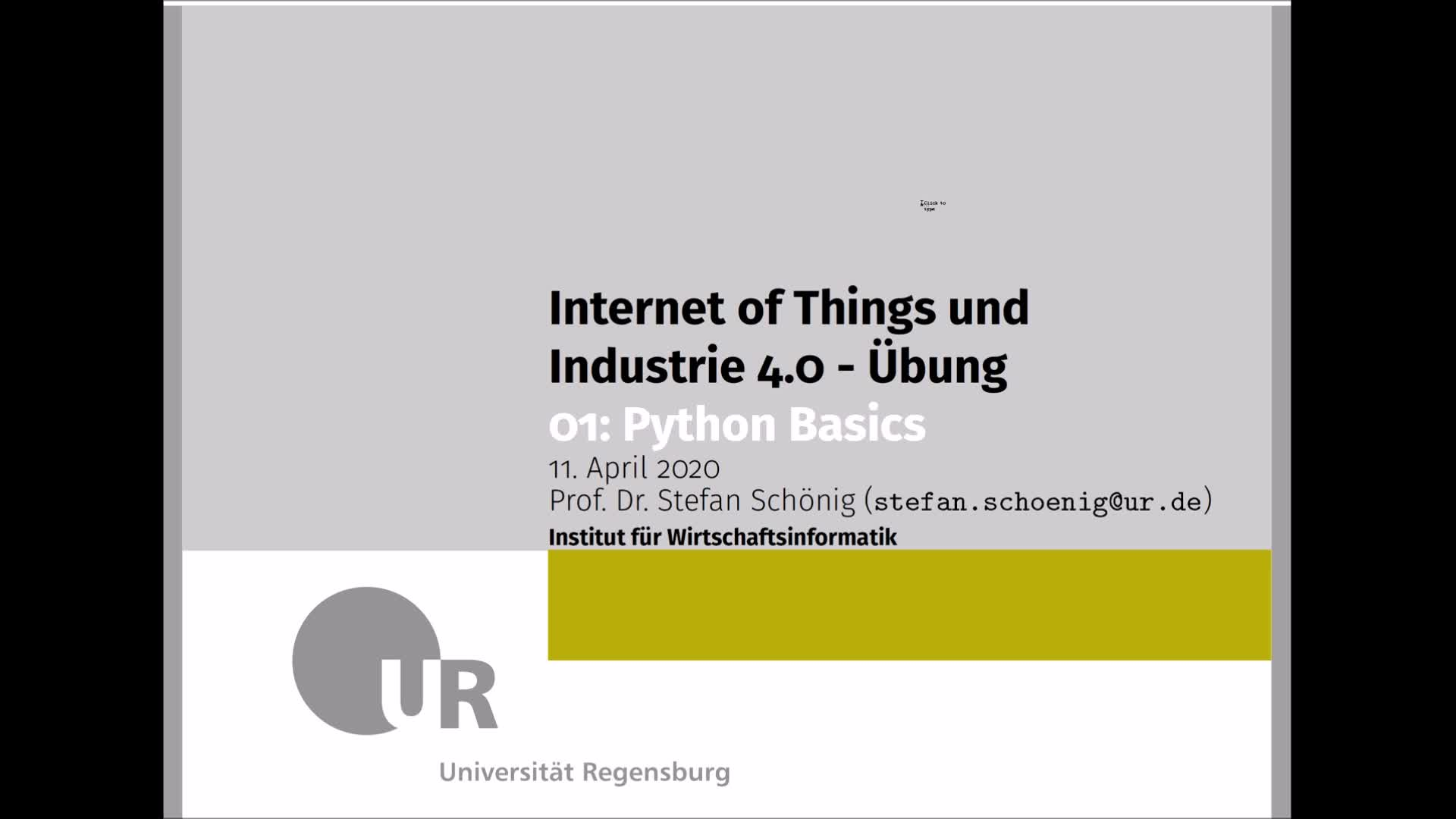 SS 2020 - Internet of Things und Industrie 4.0 - Übung 1 (Python Basics)