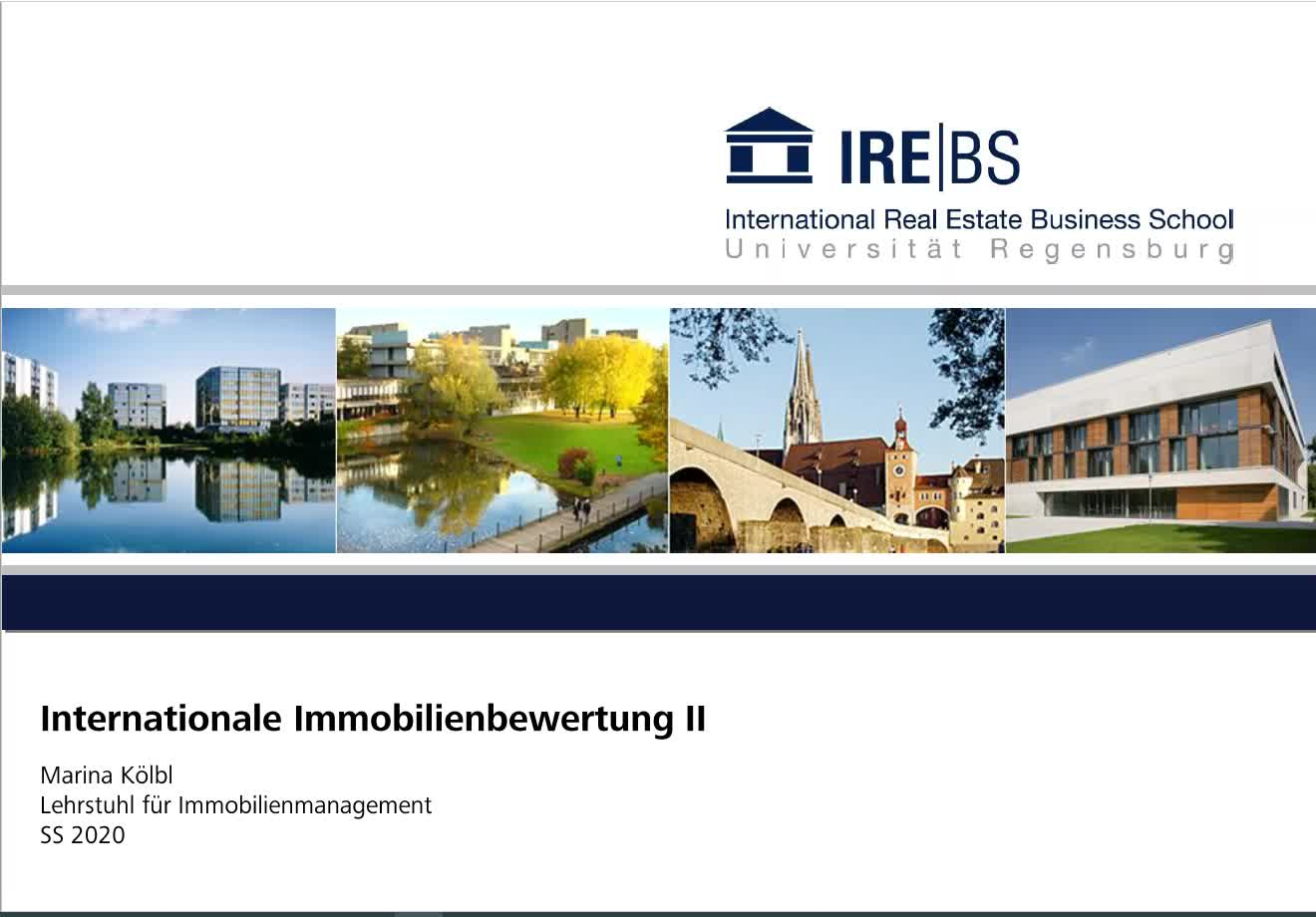 Immobilienmanagement II - Übung 2