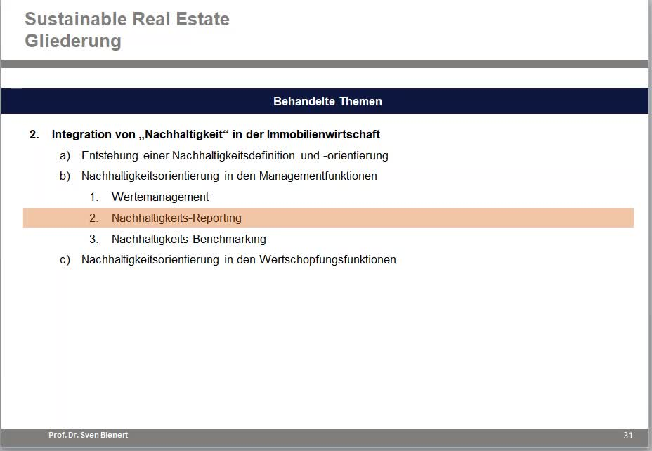 Sustainable Real Estate VL#03 - Teil 2