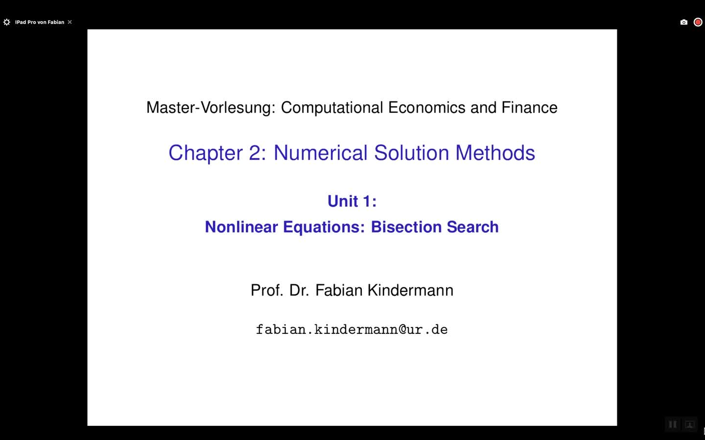 Chapter 2 - Unit 1 - Nonlinear Equations: Bisection Search
