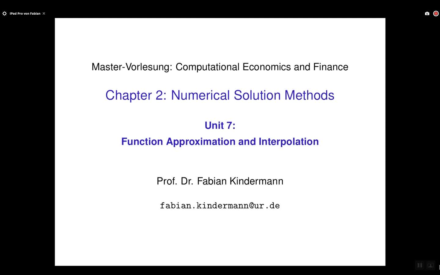 Chapter 2 - Unit 7 - Function Approximation and Interpolation