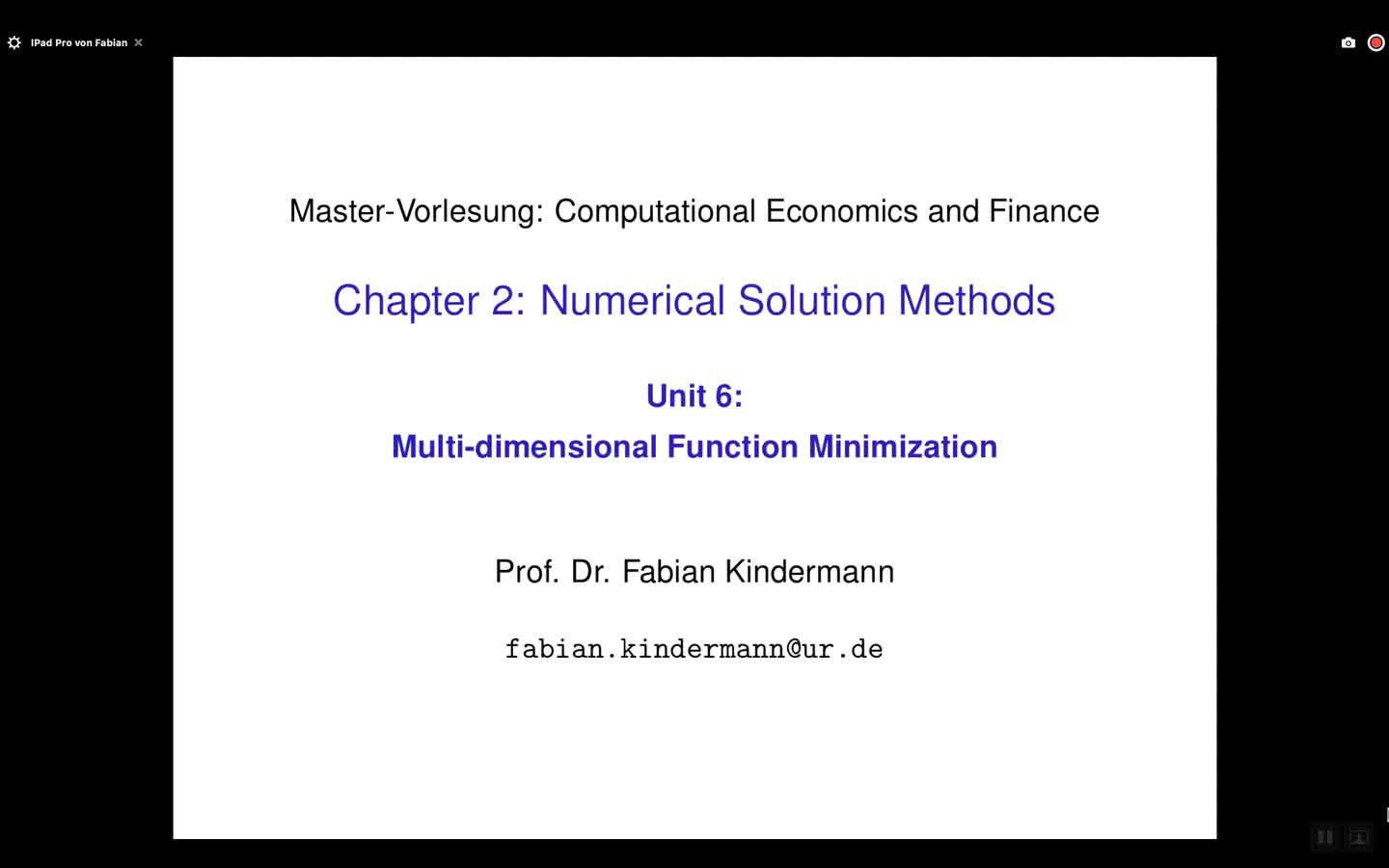 Chapter 2 - Unit 6 - Multi-dimensional Function Minimization