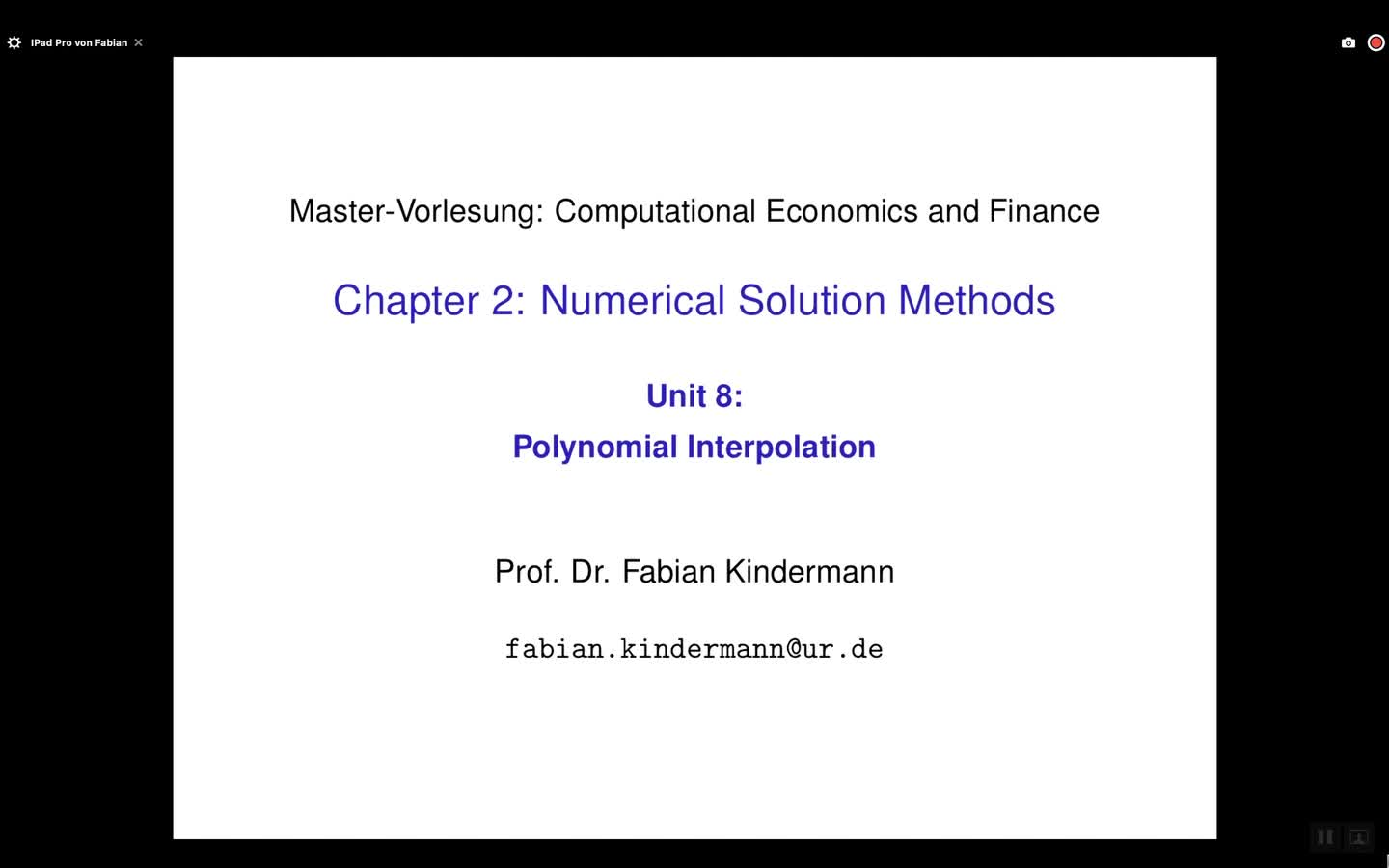 Chapter 2 - Unit 8 - Polynomial Interpolation