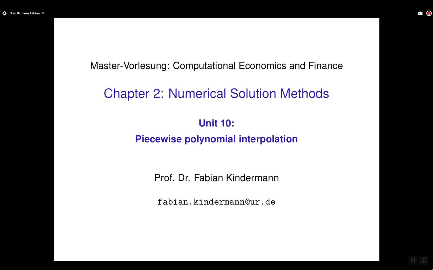 Chapter 2 - Unit 10 - Piecewise polynomial interpolation
