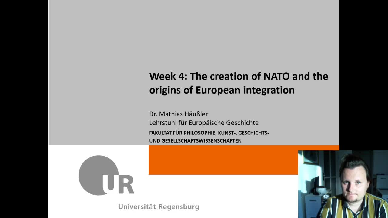 [Video] Week 4 - Creation of NATO and origins of European integration