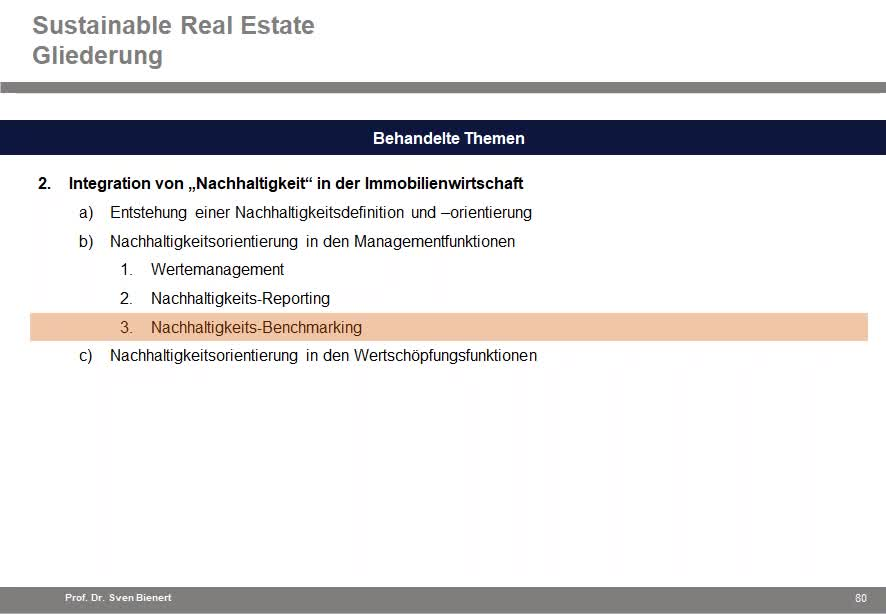 Sustainable Real Estate VL#04 - Teil 1