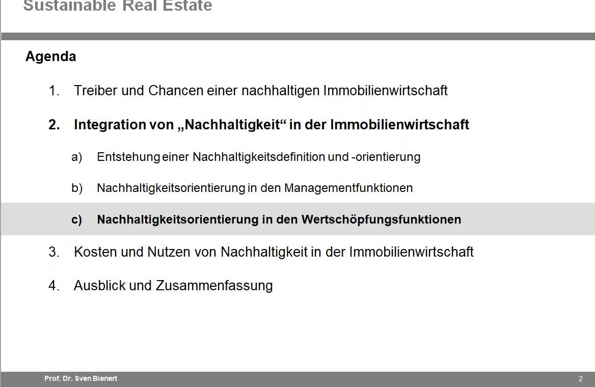 Sustainable Real Estate VL#04 - Teil 2