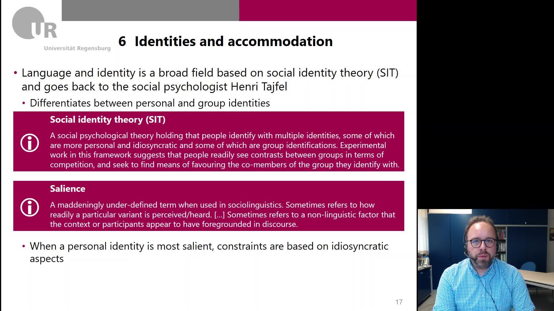 Week 4-7-Identities and accommodation