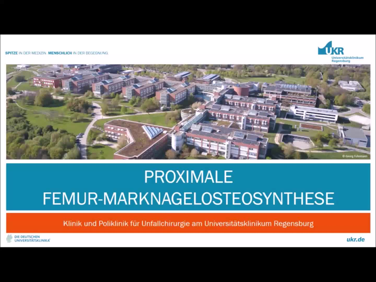 Video Proximale Femur-Marknagelosteosynthese