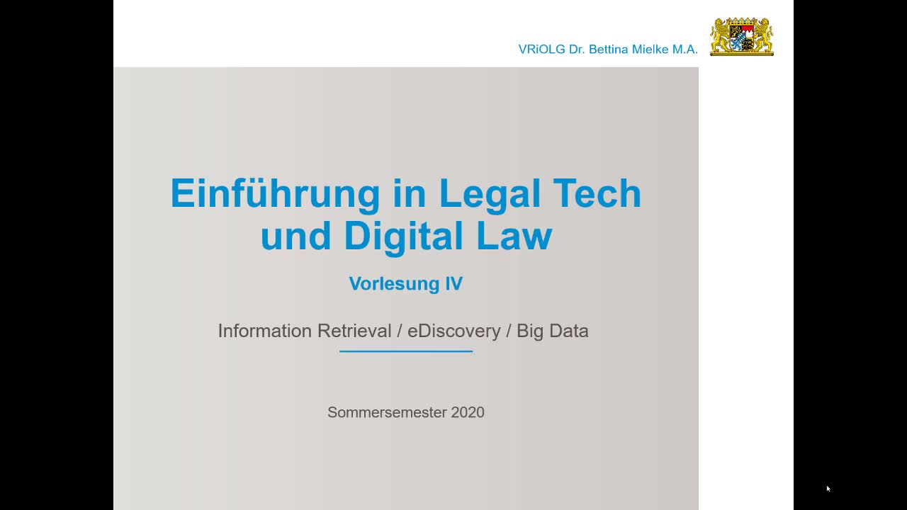 Legal Tech SS 2020 04 - Information Retrieval