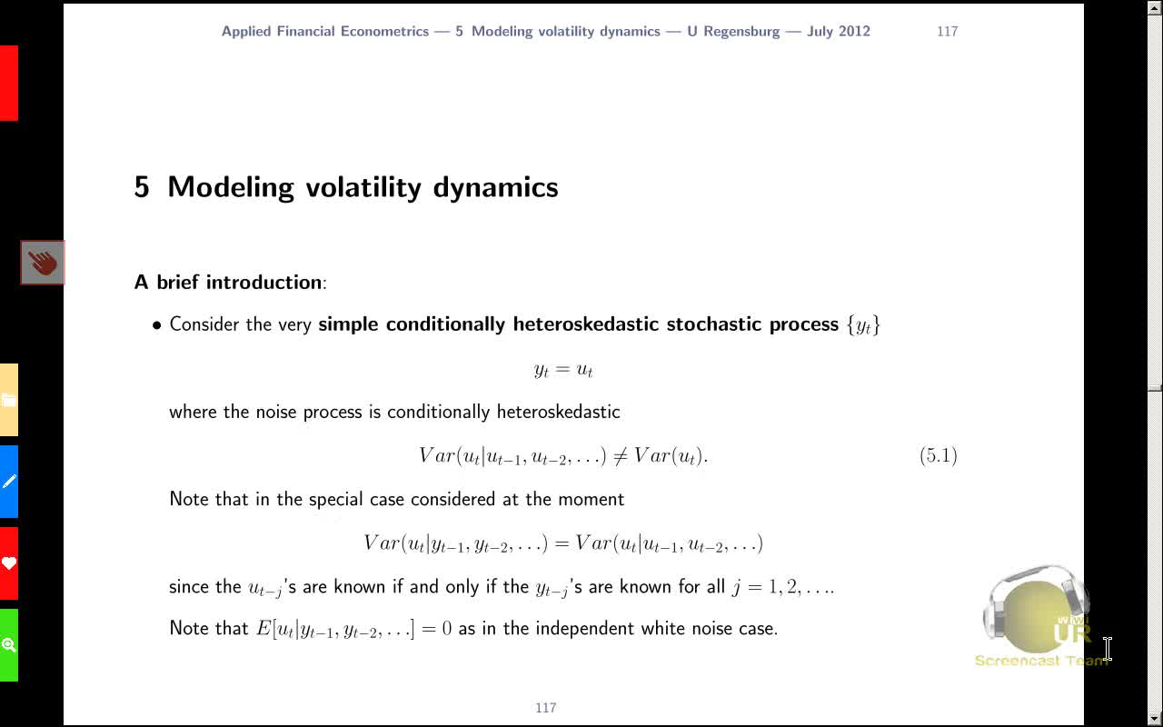 Applied Financial Econometrics, Lecture 7